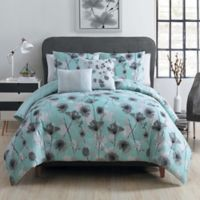 VCNY Home Poppy Floral 5-Piece Full/Queen Comforter Set in Aqua