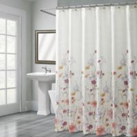 CroscillR Pressed Flowers 72 Inch X 84 Shower Curtain