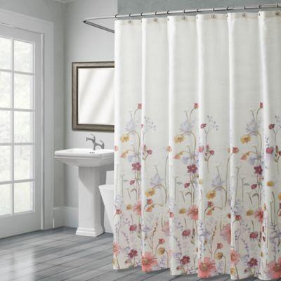 CroscillR Pressed Flowers 72 Inch X 96 Shower Curtain