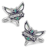 NBA Charlotte Hornets Silver-Plated and Enamel Cufflinks