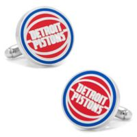 NBA Detroit Pistons Silver-Plated Brass and Enamel Cufflinks