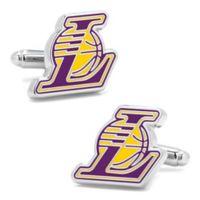 NBA LA Lakers Silver-Plated Brass and Enamel Cufflinks