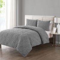 VCNY Home Artemis Embossed 2-Piece Twin XL Comforter Set in Grey