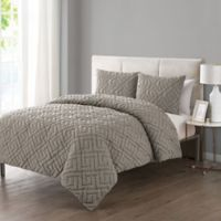 VCNY Home Artemis Embossed 3-Piece Full/Queen Comforter Set in Taupe
