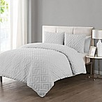 VCNY Home Artemis Embossed 3-Piece Full/Queen Comforter Set in White