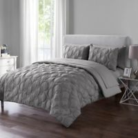 VCNY Home Atoll Embossed 7-Piece King Comforter Set in Grey