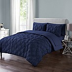 VCNY Home Atoll Embossed 7-Piece Queen Comforter Set in Navy