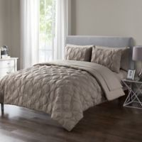 VCNY Home Atoll Embossed 7-Piece King Comforter Set in Taupe