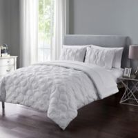 VCNY Home Atoll Embossed 7-Piece Full Comforter Set in White