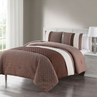 VCNY Home Edgemont Embossed 3-Piece Full/Queen Comforter Set in Natural