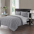 VCNY Home Gate Embossed 7-Piece Full Comforter Set in Grey