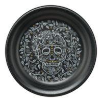 Fiesta® Skull and Vine Appetizer Plate in Black