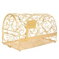 Cathy's Concepts Reception Gift Card Holder Mailbox in Gold