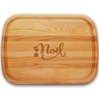 """Carved Solutions Everyday Collection """"Noel"""" 15-Inch x 21-Inch Large Cutting Board"""
