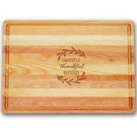 Carved Solutions Master Collection Thankful 20-Inch x 14-1/2 Inch Cutting Board