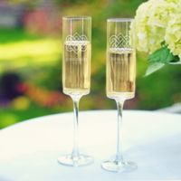 Cathy's Concepts Celtic Knot Contemporary Champagne Flutes (Set of 2)