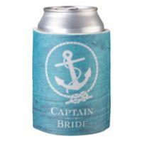 "Lillian Rose™ ""Captain Bride"" Cup Cozy in Aqua"