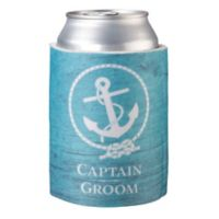 "Lillian Rose™ ""Captain Groom"" Cup Cozy in Aqua"