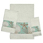 Bacova Coastal Moonlight Hand Towel in Ivory/Blue
