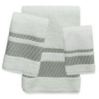 Bacova Peyton Bath Towel in Ivory/Grey