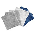 Benzoyl Peroxide-Resistant and Bleach-Friendly 6-Pack Washcloths in Blue/Multi