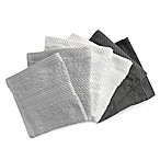 Benzoyl Peroxide-Resistant and Bleach-Friendly 6-Pack Washcloths in Grey/Multi