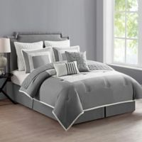VCNY Home Marion Reversible 9-Piece King Comforter Set in Grey
