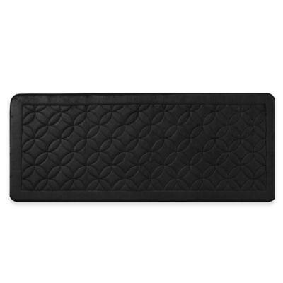 Vcny Chanel 24 Inch X 60 Memory Foam Bath Runner In Black