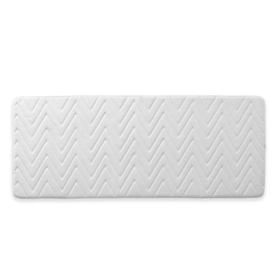Vcny Chevron 24 Inch X 60 Bath Rug In White