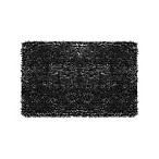 Jean Pierre Mega Butter Chenille 17-Inch x 24-Inch Bath Rug in Charcoal