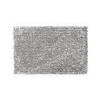 Jean Pierre Mega Butter Chenille 27-Inch x 45-Inch Bath Rug in Light Grey