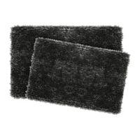 Jean Pierre Mega Chenille Bath Rugs in Charcoal (Set of 2)