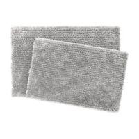 Jean Pierre Mega Chenille Bath Rugs in Light Grey (Set of 2)
