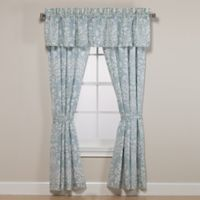 Laura Ashley® Rowland 84-Inch Rod Pocket Window Curtain Panel Pair in Aqua