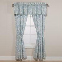 Laura Ashley® Rowland 18-Inch Straight Window Valance in Aqua