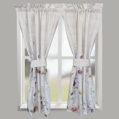 croscill pressed flowers window curtain tier pair