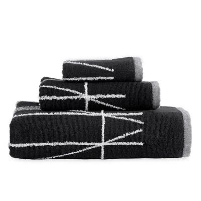 Bon DKNY Geometrix Hand Towel In Black/White