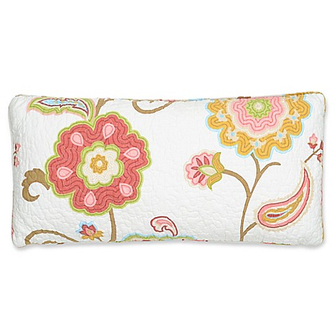 Levtex Home Araya Quilted Oblong Throw Pillow in Red - Bed Bath & Beyond