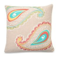 Levtex Home Araya Paisley Square Throw Pillow in Taupe