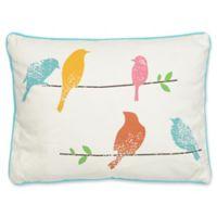 Levtex Home Araya Birds Oblong Throw Pillow in White