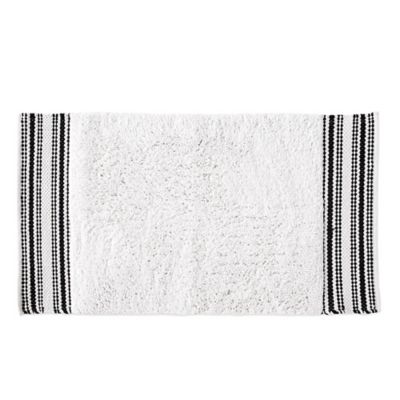 DKNY Check Please Bath Rug In White/Black