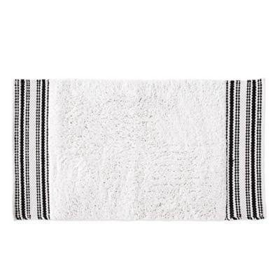 Dkny Check Please Bath Rug In White Black