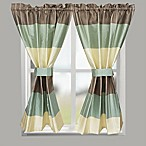 Croscill® Fairfax 45-Inch Rod Pocket Kitchen Bath Window Curtain Panel Tier Pair in Taupe
