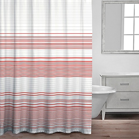 Caro Home Bimini Shower Curtain In Coral Bed Bath Amp Beyond