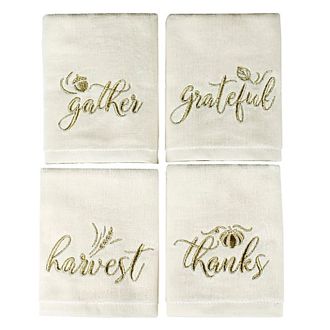 Saturday Knight Harvest Inspirations Fingertip Towels (Set of 4)