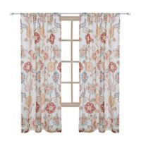 Levtex Home Araya 84-Inch Rod Pocket Window Curtain Panel in Red