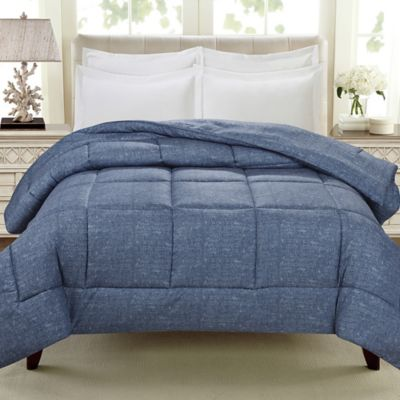 cathay home down alternative twin comforter in dark indigo