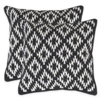 Safavieh Navajo Diamond Throw Pillows in Black (Set of 2)