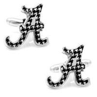 University of Alabama Silver-Plated and Enamel Team Logo Cufflinks