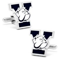 Yale University Silver-Plated and Enamel Team Logo Cufflinks
